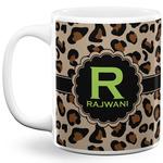 Granite Leopard 11 Oz Coffee Mug - White (Personalized)