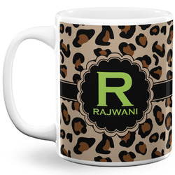 Granite Leopard 11 Oz Coffee Mug - White (Personalized)