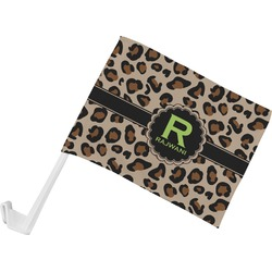 Granite Leopard Car Flag (Personalized)