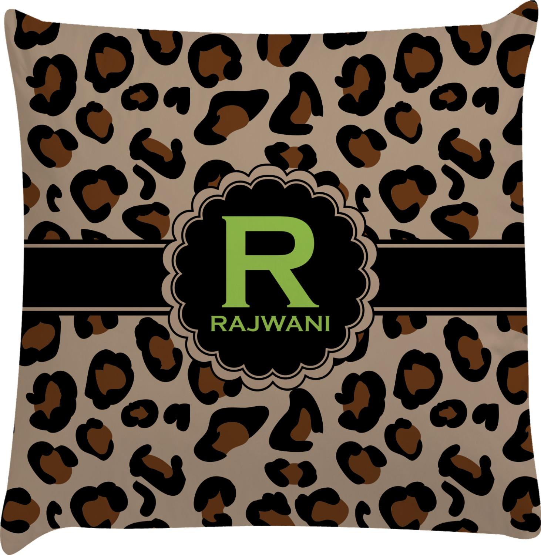 Granite Leopard Decorative Pillow Case (Personalized) - YouCustomizeIt