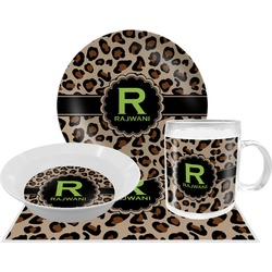 Granite Leopard Dinner Set - 4 Pc (Personalized)