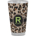 Granite Leopard Drinking / Pint Glass (Personalized)