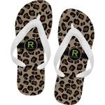 Granite Leopard Flip Flops (Personalized)