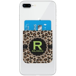 Granite Leopard Genuine Leather Adhesive Phone Wallet (Personalized)