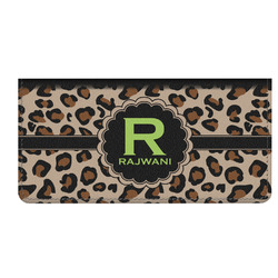 Granite Leopard Genuine Leather Checkbook Cover (Personalized)