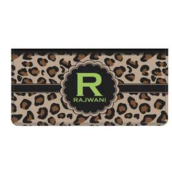 Granite Leopard Genuine Leather Checkbook Cover (Personalized)