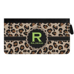 Granite Leopard Genuine Leather Ladies Zippered Wallet (Personalized)
