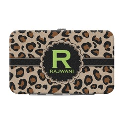 Granite Leopard Genuine Leather Small Framed Wallet (Personalized)