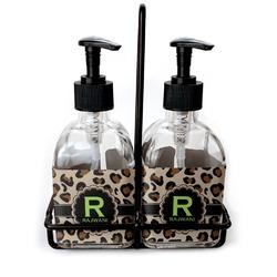Granite Leopard Soap & Lotion Dispenser Set (Glass) (Personalized)