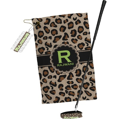 Granite Leopard Golf Towel Gift Set (Personalized)