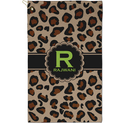 Granite Leopard Golf Towel - Full Print - Small w/ Name and Initial