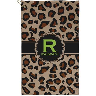 Granite Leopard Golf Towel - Full Print - Small w/ Name and Initial