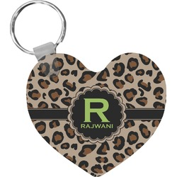 Granite Leopard Heart Keychain (Personalized)