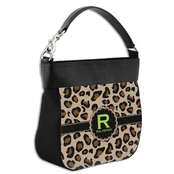 Granite Leopard Hobo Purse w/ Genuine Leather Trim (Personalized)