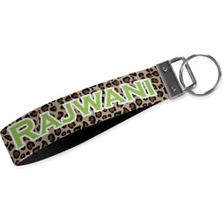 Granite Leopard Webbing Keychain Fob - Large (Personalized)