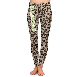 Granite Leopard Ladies Leggings - Large (Personalized)