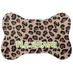 Granite Leopard Bone Shaped Dog Food Mat (Personalized)