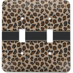 Granite Leopard Light Switch Cover (2 Toggle Plate) (Personalized)