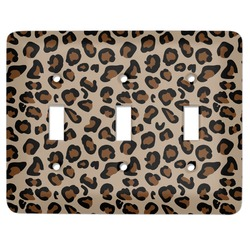 Granite Leopard Light Switch Cover (3 Toggle Plate) (Personalized)