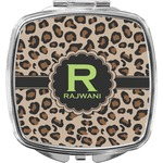 Granite Leopard Compact Makeup Mirror (Personalized)