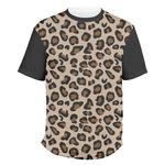 Granite Leopard Men's Crew T-Shirt (Personalized)