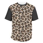 Granite Leopard Men's Crew T-Shirt (Personalized)
