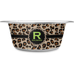 Granite Leopard Stainless Steel Dog Bowl (Personalized)