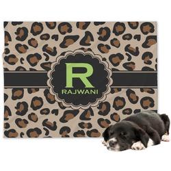 Granite Leopard Minky Dog Blanket - Large  (Personalized)