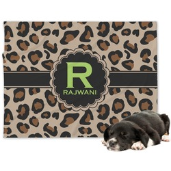 Granite Leopard Minky Dog Blanket (Personalized)