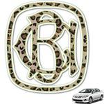 Granite Leopard Monogram Car Decal (Personalized)