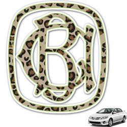 Granite Leopard Monogram Car Decal (Personalized)