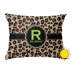 Granite Leopard Outdoor Throw Pillow (Rectangular) (Personalized)