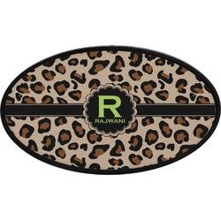 Granite Leopard Oval Trailer Hitch Cover (Personalized)