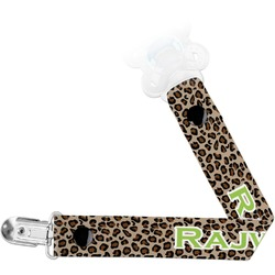 Granite Leopard Pacifier Clips (Personalized)