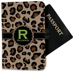 Granite Leopard Passport Holder - Fabric (Personalized)