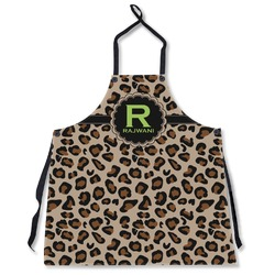 Granite Leopard Apron Without Pockets w/ Name and Initial