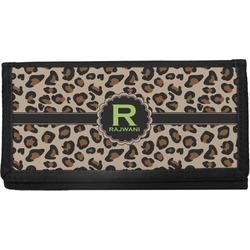 Granite Leopard Canvas Checkbook Cover (Personalized)