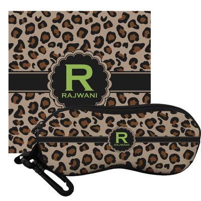 Granite Leopard Eyeglass Case & Cloth (Personalized)