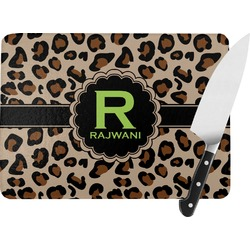 Granite Leopard Rectangular Glass Cutting Board (Personalized)