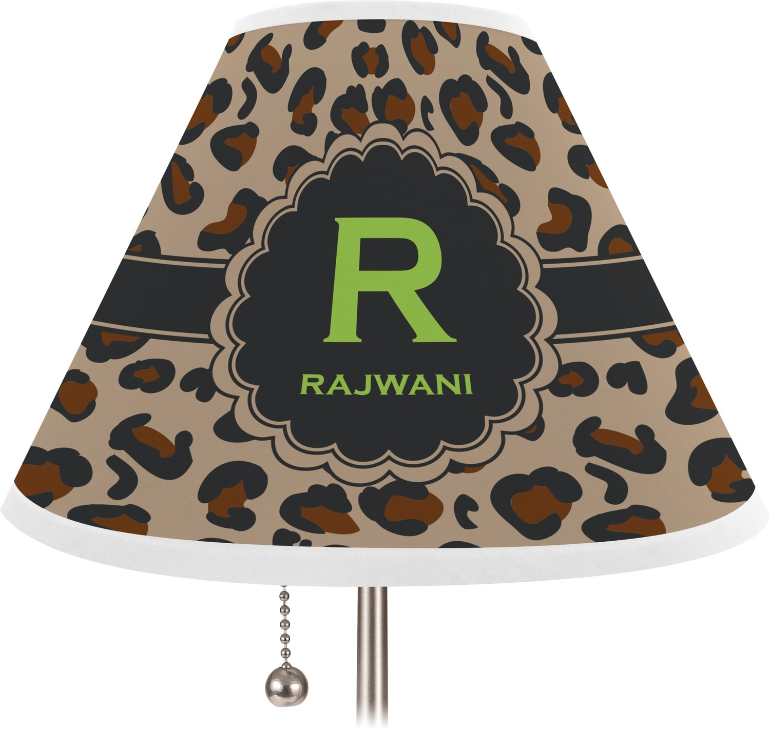 Granite leopard lamp shade large personalized you for Floor lamp with leopard shade