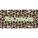 Granite Leopard Front License Plate (Personalized)