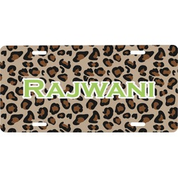 Granite Leopard Front License Plate (Personalized)