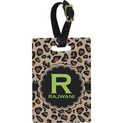 Granite Leopard Rectangular Luggage Tag (Personalized)