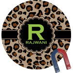 Granite Leopard Round Fridge Magnet (Personalized)