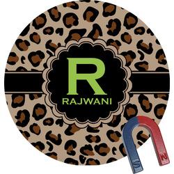 Granite Leopard Round Fridge Magnet (Personalized)