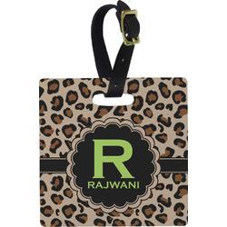 Granite Leopard Square Luggage Tag (Personalized)