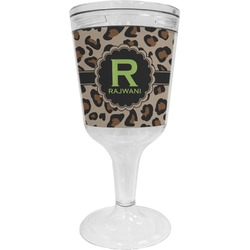 Granite Leopard Wine Tumbler - 11 oz Plastic (Personalized)