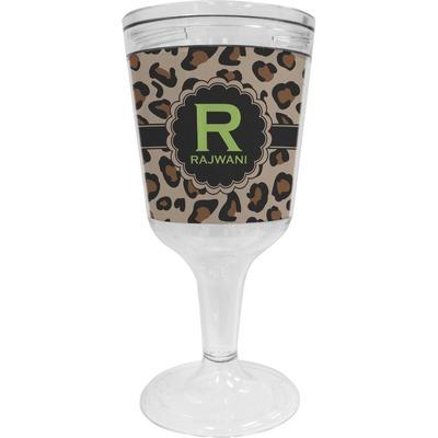Granite Leopard Wine Tumbler - 11 oz Plastic (Personalized)