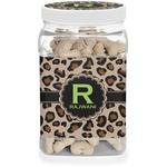 Granite Leopard Dog Treat Jar (Personalized)