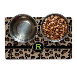 Granite Leopard Pet Bowl Mat (Personalized)